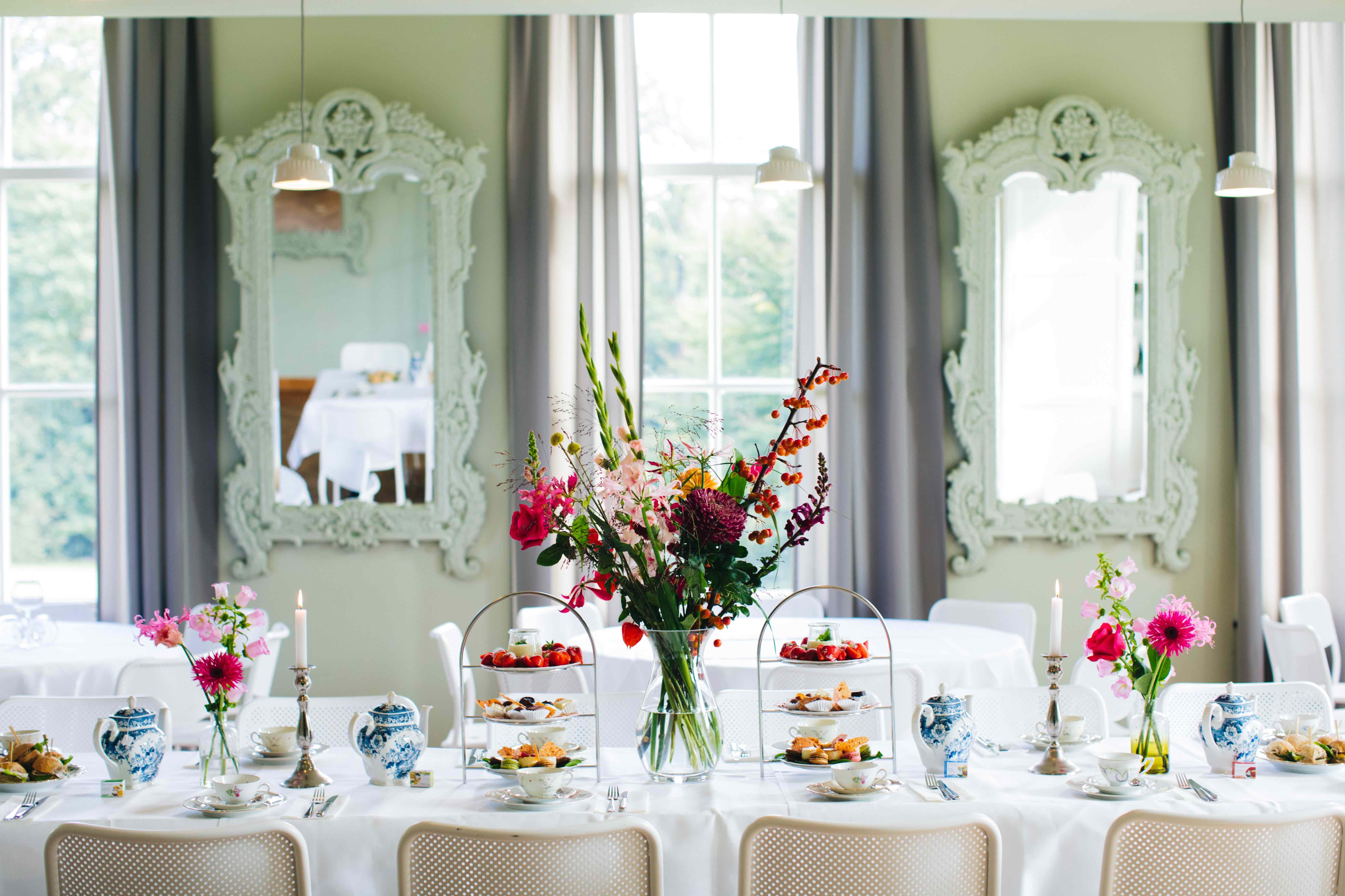 High Tea Stadsvilla Sonsbeek Park Arnhem locatie huwelijk trouwen babyshower diner grand café zakelijk bijeenkomst